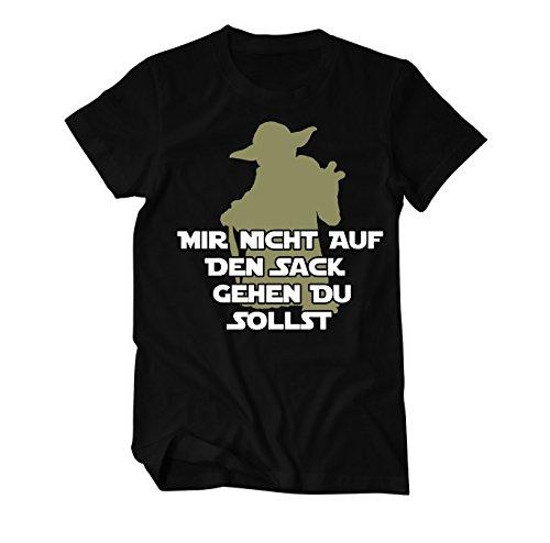 Mir Nicht auf den Sack gehen Du sollst Fun T-Shirt Herren XXXXX-Large Schwarz