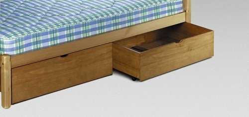 Pine Underbed Storage Drawers. - PAIR