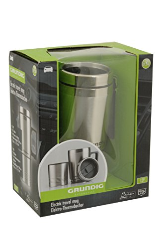 Preisvergleich Produktbild GRUNDIG Elektro-Thermobecher aus Edelstahl 0,5L 12 V