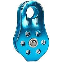 Tofree Polea 20kN Tandem rollo polea General Purpose Individual fijo Rodamientos de cuerda de escalada rollo, azul