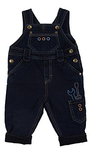 Sigikid Baby-Jungen Latzhose, Gefüttert, Blau (Denim Blue Black 271), 92