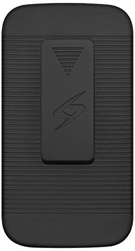 Amzer Shellster Schutzhülle mit Holster Cover–Schwarz für Samsung Galaxy K Zoom SM-C115