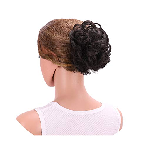 Frauen Ombre Curly Klaue Haar Brötchen Synthetic Chignon Updo Abdeckung Toupets, 2 (Women's Irish Dance Kostüm)