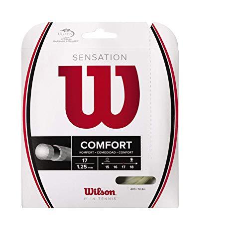 Wilson Unisex Tennissaite Sensation, natur, 12,2 Meter, 1,25 mm, WRZ941100