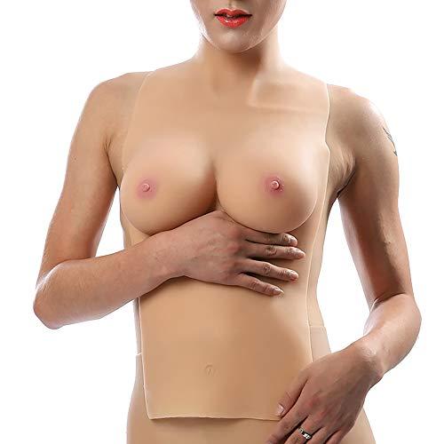 Kostüm Brüste Für Große - TYXHZL Shemale Crossdresser Verkleidung halblange Feste Brüste Anime große Brust gefälschte Brustkissen Cosplay Kostüm