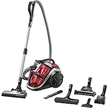 Rowenta RO8370EA Aspirateur Silence Force Multicyclonic Animal Care Pro 3A sans Sac Rouge