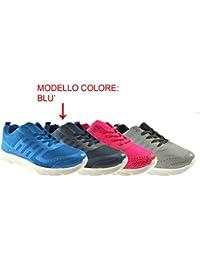 AXA Scarpe Unisex Sneakers Tela Grigia 78049A Grigio 57d4IE