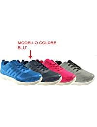 AXA Scarpe Unisex Sneakers Tela Grigia 78049A Grigio