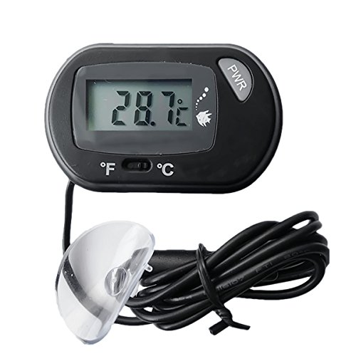 Aquarium Fisch-Behälter-Terrarium digitale LCD-Anzeige Thermometer Temperatur Meter schwarz