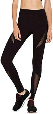 Rcool Mujer Fitness Legging Alto Leggings Mediados de la Cintura Patchwork Skinny Push Up Yoga Deportivo Pantalones-03