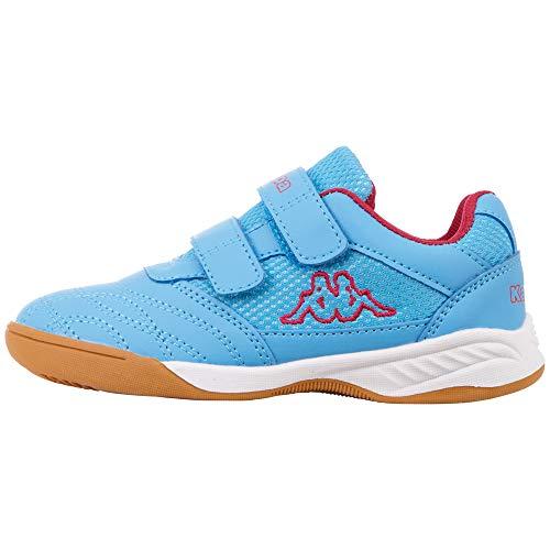 Kappa Mädchen Kickoff Multisport Indoor Schuhe, Blau (L´Blue/Pink 6122), 32 EU