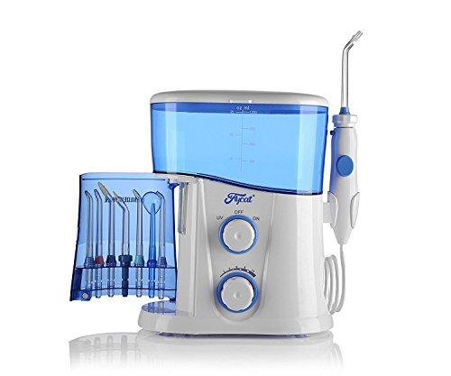 Tmei Munddusche Zahnbürste Zahnpflege Zahnreinigung Oral Irrigator Water Flosser Water Jet Reinigung Dental Care mit UV Desinfektion und 7 Tips