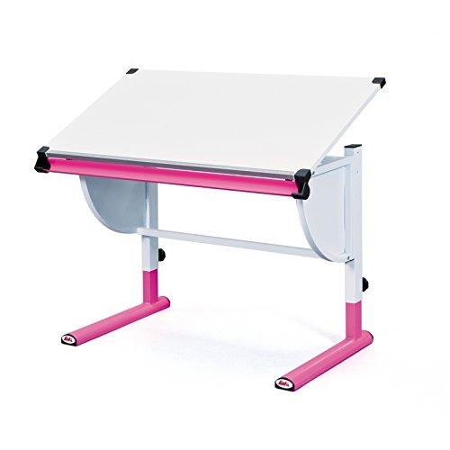 Inter Link 51067450 Schreibtisch Kinderschreibtisch für Kinder, Holz mit Stiftablage, höhenverstellbar und neigungsverstellbar, pink