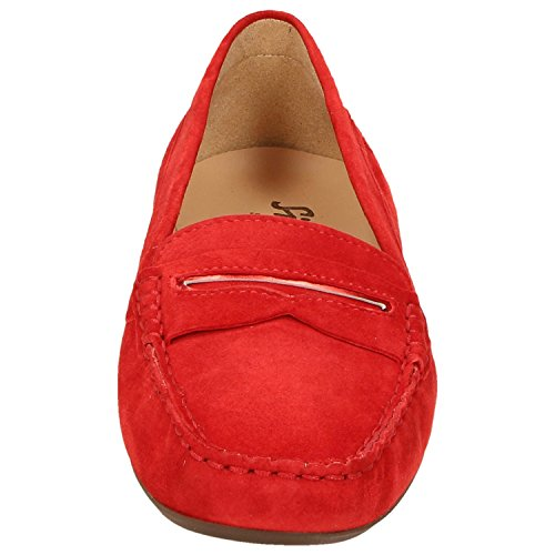 Sioux 53504 -, Mocassini donna rosso Rot Rot