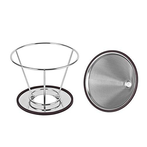 Demarkt Edelstahl Kaffee-Filter Teefilter, wiederverwendbarer Kaffeefilter, Camping Kaffeemaschine...