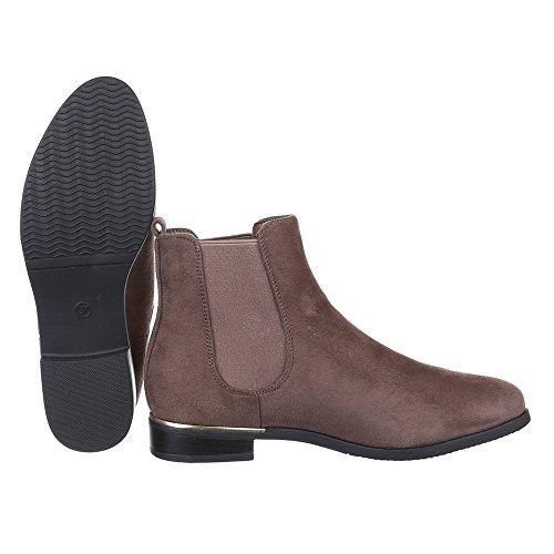 Calcanhar Luz Botas Bloco Femininos Marrom Levemente Sapatos Botina Acolchoada xqSwzAZw47