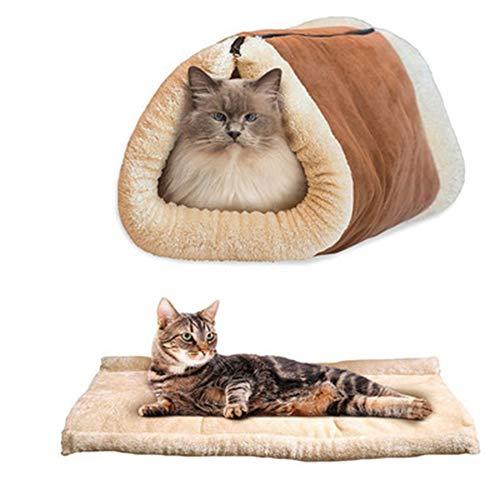 Alextry 2 In 1 Katzentunnel Schlafsack Weiche Komfortable Nest Warmes Haus Haustiere Liefert