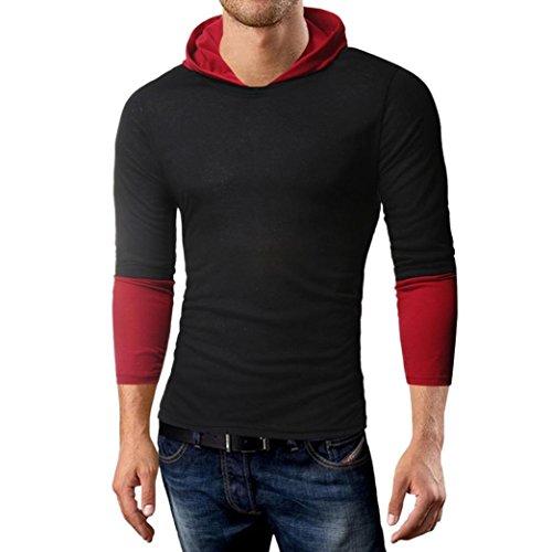 MRULIC Herren Langarmshirts Pullover Hoodies Fashion Sweatshirt Herbst...