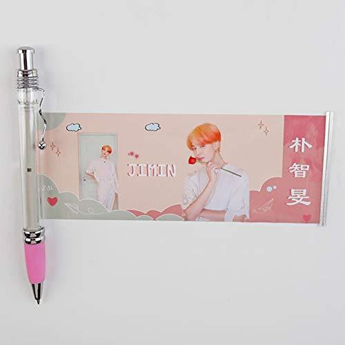 Gyrate BTS Gel Pen Ziehen Sie Banner Stift JIMIN V SUGA JK Schule Büromaterial(Style05)