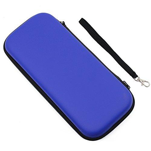 Preisvergleich Produktbild KEESIN Nintendo Switch Gehäuse Travel Schutztasche Hard Tragetasche Shell Aufbewahrungsbeutel für Nintendo Switch Console & Zubehör (Blau)