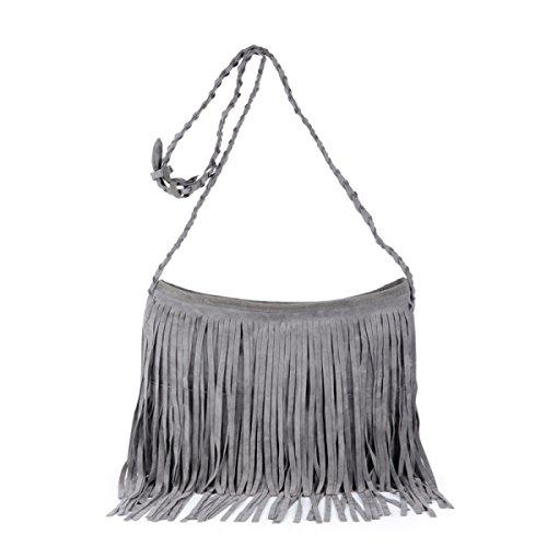 Frauen-Koffer Umhängetasche Mode Einfache Handtasche Grey