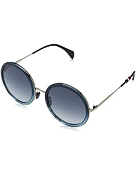 Tommy Hilfiger Unisex-Erwachsene Sonnenbrille TH 1474/S 08, Schwarz (Blue Shaded), 53