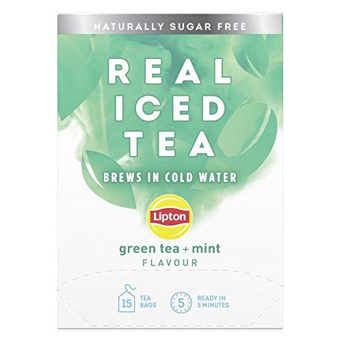 Lipton Real Iced Tea Green Tea & Mint Iced Tea 15 Tea Bags