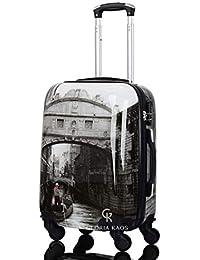 Gloria Kaos - Trolley Cabina Per Voli Come Ryanair & C. - Bagaglio a Mano In Policarbonato Flessibile Ultraleggero - Fantasia Venezia 50cm