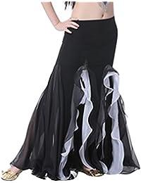 YiJee Danza del Vientre Falda Abrir Larga Falda de la Mujer