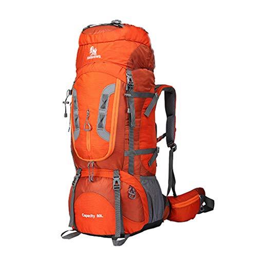 Zaino da escursionismo professionale coco 80l, borsa sportiva in nylon impermeabile tracolla staccabile, zaino da donna e uomo outdoor ad alte prestazioni (colore : orange)