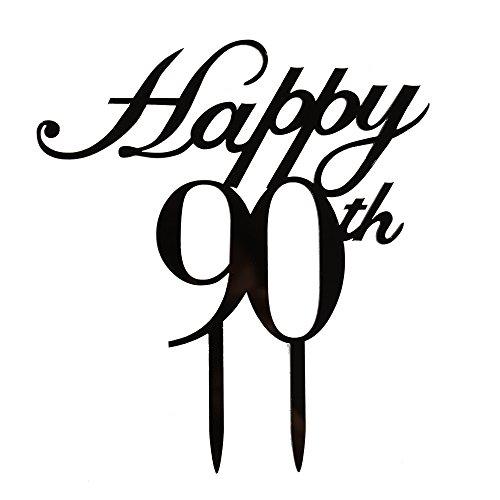 Happy 90. Cake Topper, zum 90. Geburtstag/Hochzeitstag Party decorations-black Color