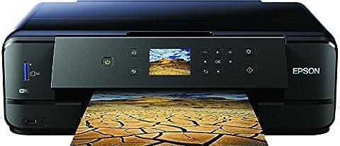 Epson Expression Premium XP-900 3en1 Imprimante multifonction à jet d'encre – imprimante DIN A3, scanner, photocopieur, WiFi, duplex, impression sur CD/DVD, cartouches individuelles – Noir
