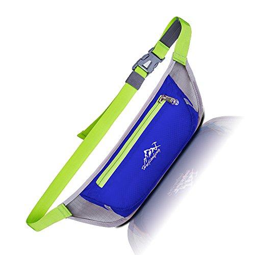 MagiDeal Marsupio Impermeabile Sacchetto Di Cintura Nylon Vita Al Aperto Esecuzione Sport Arrampicata - Blu scuro Blu scuro