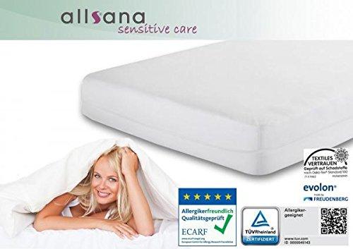 Allsana Allergiker Matratzenbezug 120x200x24cm Allergie Bettwäsche Anti Milben Encasing Milbenschutz für Hausstauballergiker