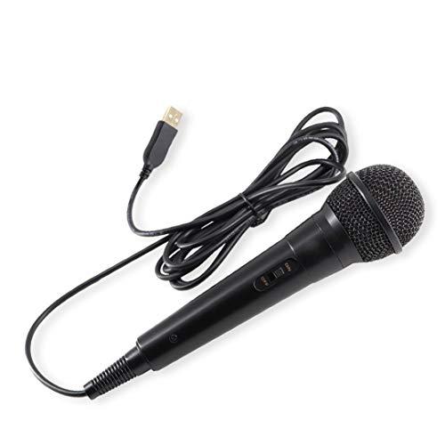 sdfghzsedfgsdfg 1PC USB con Cable de micrófono de Alto Rendimiento Karaoke micrófono para el Interruptor de PS4-WiiU PC Juegos para Toda la música Negro