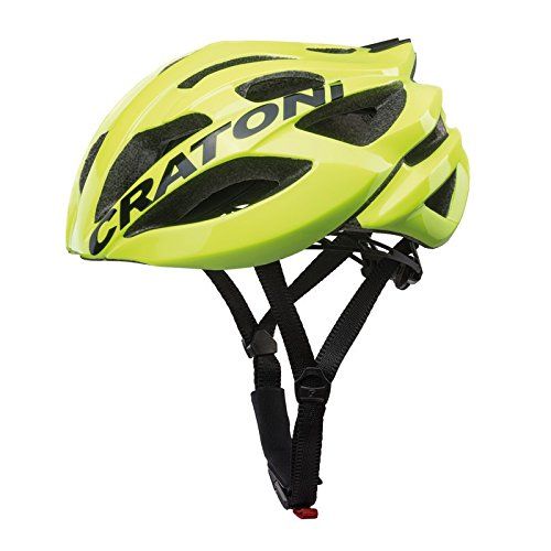 Cratoni C-Bolt Fahrradhelm, Neon Yellow/Black Glossy, M-L