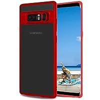 Funda Samsung Galaxy Note 8, KKtick Galaxy Note 8 Case [Ultra Delgado] Premium Silicona TPU Protección y Anti-Arañazos Clarity Espalda Carcasa para Galaxy Note 8 - Rojo