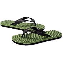 ZYLL Zapatillas De Playa Para Hombres Chanclas Soporte De Arco Masaje Casual Slip Plano Sandalias Transpirables