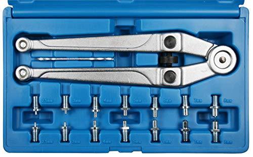 SW-Stahl Stirnlochschlüssel mit auswechselbaren Spitzen, S1464