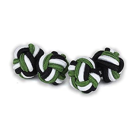 Weber Plastique - Soie nœuds boutons de manchette Noir |