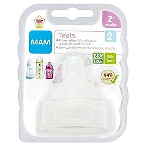 MAM Medium Flow Bottle Teats for use with MAM Bottles  (2-pack)