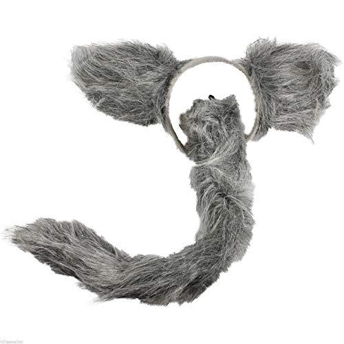 Unbekannt Wolf - Kinder oder Damen Kostüm Set - Wolf Tutu Costume - vetrieb durch ABAV (2tlg. Accessoire(Haarreif/Schwanz)) (Wolf-schwanz, Halloween Kostüm)