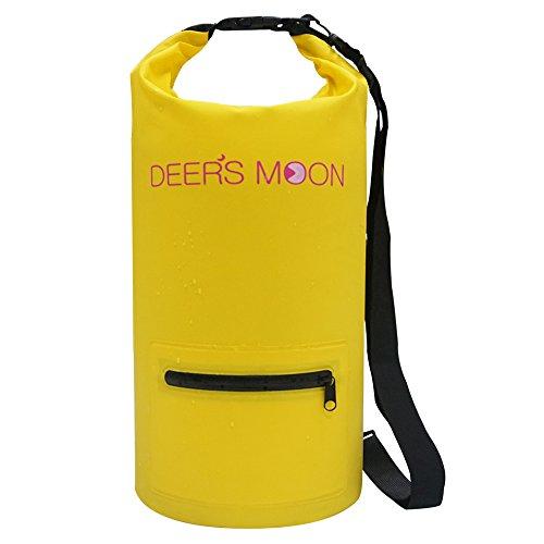 deers-moon-waterproof-dry-bag-15l-roll-dry-compression-sack-for-kayaking-beach-rafting-boating-hikin