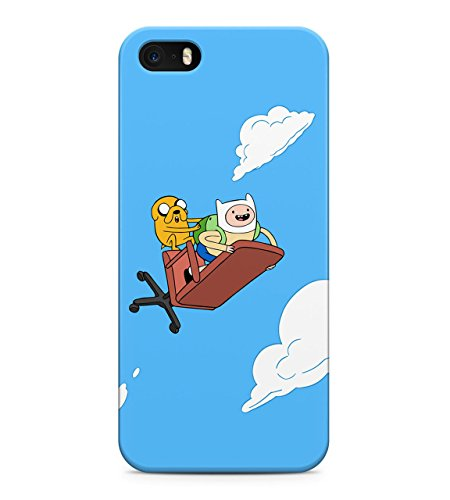 Adventure Time Jake The Dog Finn The Human Fly On Chair Clouds Hard Plastic Snap On Back Case Cover For iPhone 5 / 5s Custodia