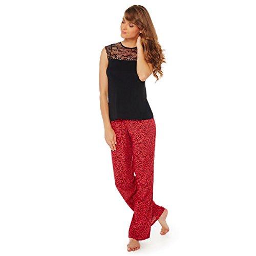Pomm'poire - Pyjama noir/rouge Midnight - Femme Rouge