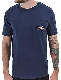 Camiseta con bolsillo Jesse James Heavyweight Azuloscuro