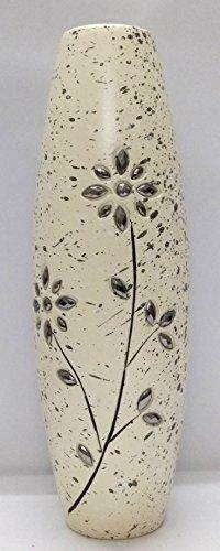Ethnic Karigari Home Decor Beautiful Modern White Wooden Designer Decorative Flower Vase