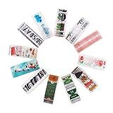 Juego de 12 rollos de cinta adhesiva, lomofila cinta adhesiva decorativa colección Maletín de maquillaje Bullet para DIY manualidades, Revistas, planificadores, tarjetas, scrapbook (Travel Design)