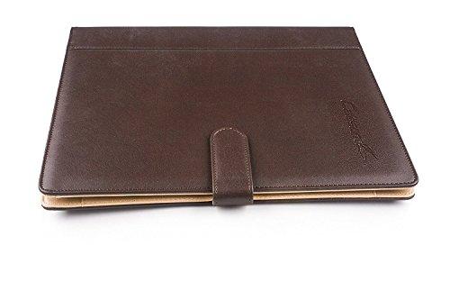 Schwarz Portfolio-ordner (caleson Business Leder-Portfolio mit abnehmbarem 3 Ring Binder, multi-holder, Taschenrechner und Dokument Ordner. schwarz)