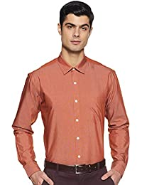Amazon Brand - Symbol Men's Formal Fil a Fil Regular Fit Shirt